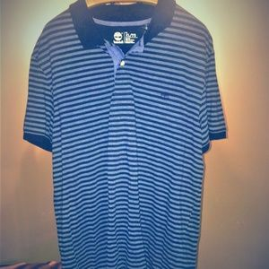Timberland dark blue striped casual shirt Size XL